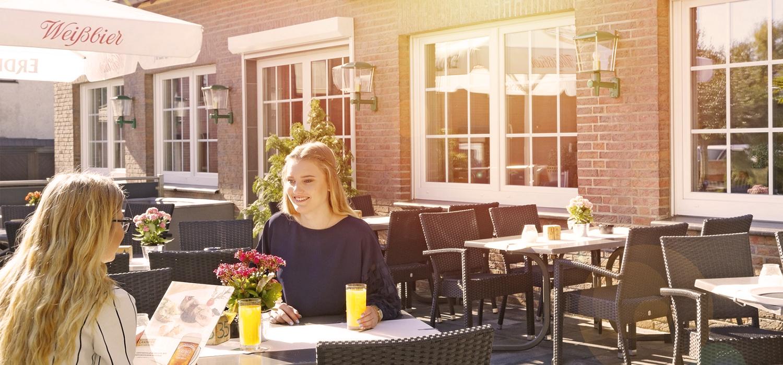Restaurant Garten vom Hotel Burgschänke